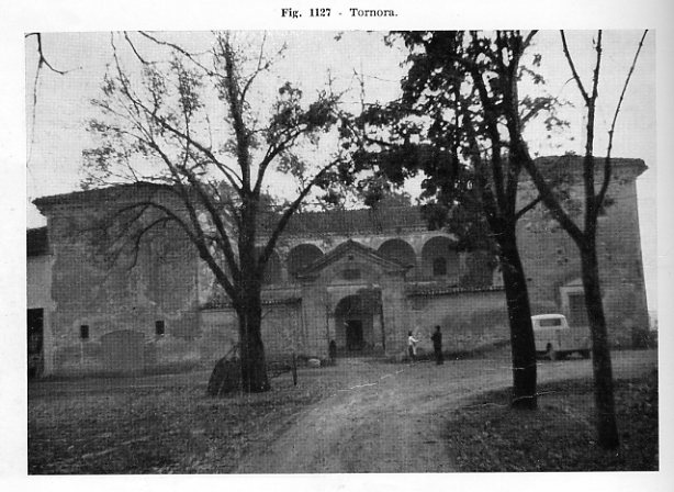 Villa Visconti-Casati, a Tornora, Saliceto di Cadeo in un'immagine degli anni '60.