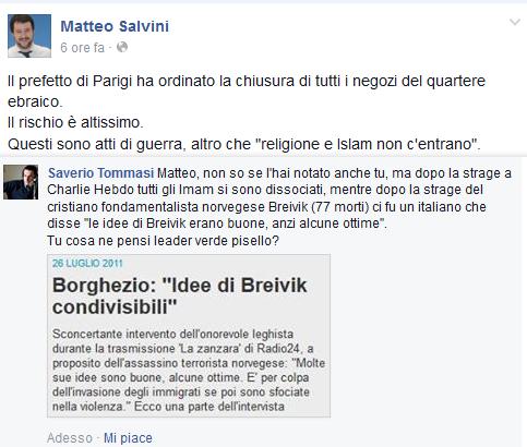Charlie Hebdo Matteo Salvini