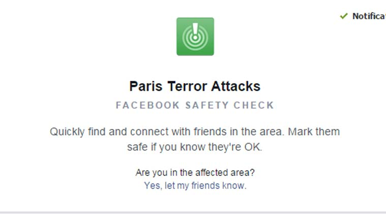 facebook parigi safety check