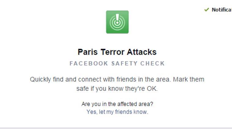 facebook parigi safety check