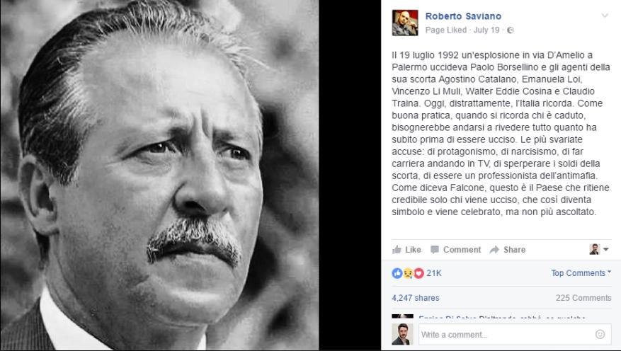 roberto saviano facebook