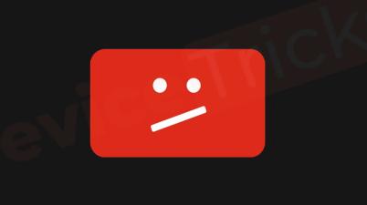 YouTube, il simbolo che appare quando il video viene rimosso o non è più disponibile.